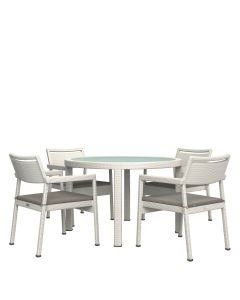 Niche JANUSfiber 5 Piece Dining Set - Limestone