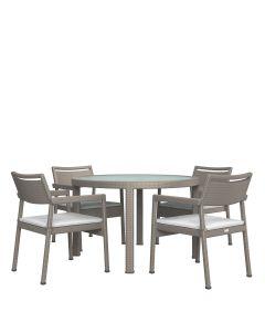 Niche JANUSfiber 5 Piece Dining Set - Palladium