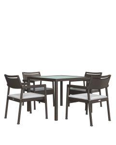 Niche JANUSfiber 5 Piece Dining Set Square - Bronze