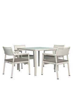 Niche JANUSfiber 5 Piece Dining Set Square - Limestone