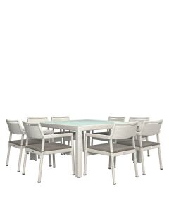 Niche JANUSfiber 9 Piece Dining Set - Limestone
