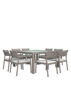Niche JANUSfiber 9 Piece Dining Set - Palladium